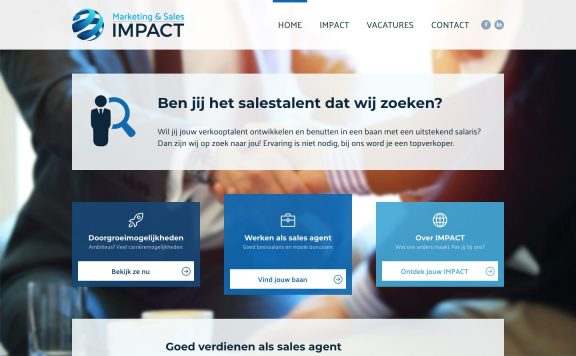 Website van Marketing & Sales Impact