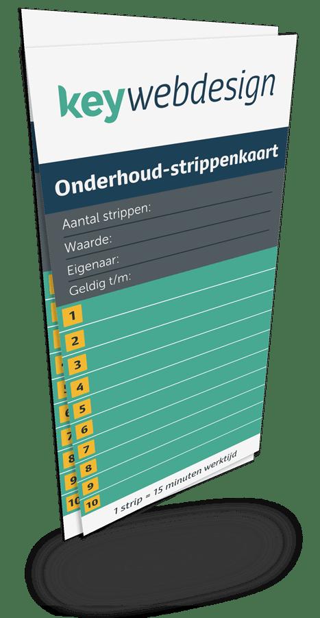 De onderhoud-strippenkaart van Key Webdesign