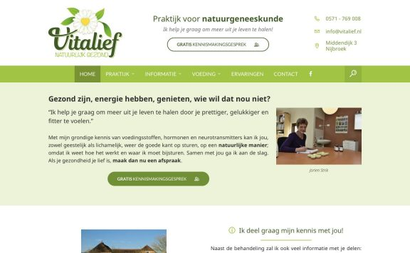 Website van Vitalief